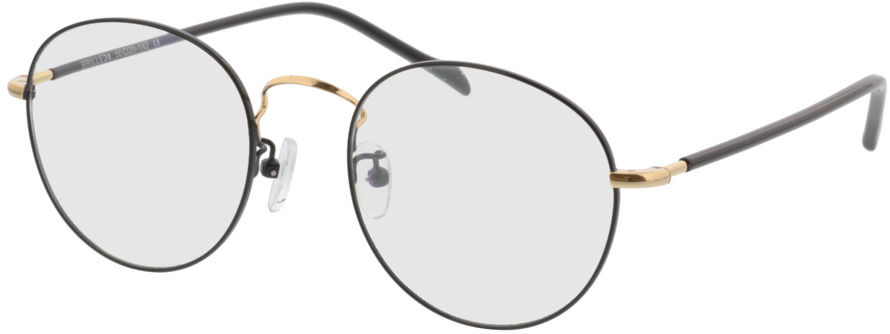 Picture of glasses model Concorde zwart/Goud in angle 330