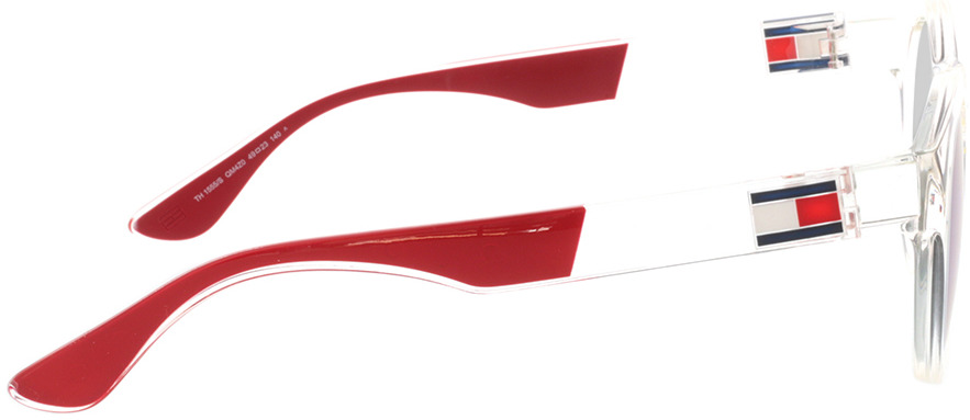 Picture of glasses model Tommy Hilfiger TH 1555/S QM4 49-23 in angle 90