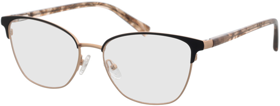 Picture of glasses model Orla-rosegold/schwarz in angle 330