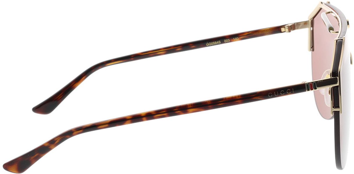 Picture of glasses model Gucci GG0584S-003 99-0 in angle 90