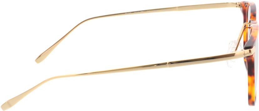 Picture of glasses model Rosebud bruin/gevlekt/Goud in angle 90