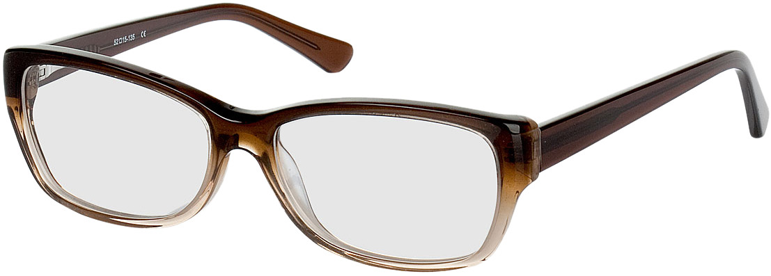 Picture of glasses model Piura-braun/hellbraun transparent in angle 330