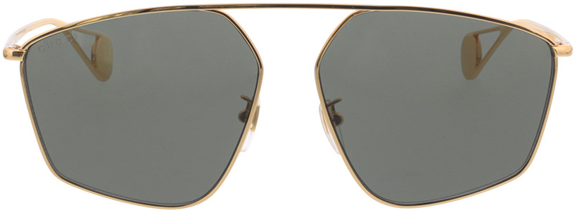 Picture of glasses model Gucci GG0437SA-002 60-14 in angle 0