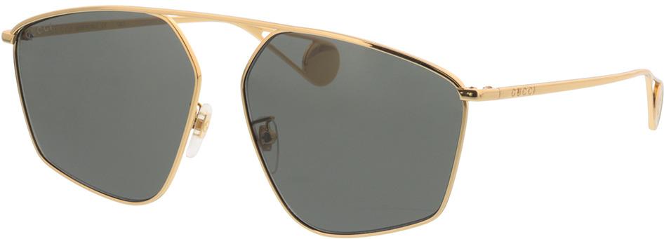 Picture of glasses model Gucci GG0437SA-002 60-14 in angle 330