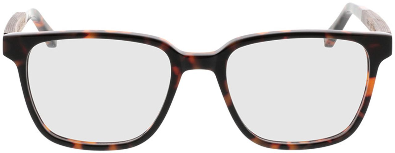 Picture of glasses model TAKE A SHOT Faro Hazelnut RX: Walnussholz 50-19 in angle 0