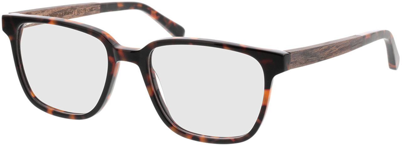 Picture of glasses model TAKE A SHOT Faro Hazelnut RX: Walnussholz 50-19 in angle 330