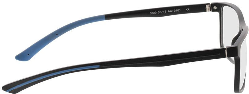 Picture of glasses model Lindos-matt schwarz/blau in angle 90