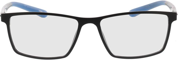 Picture of glasses model Lindos-matt schwarz/blau in angle 0
