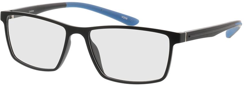 Picture of glasses model Lindos-matt schwarz/blau in angle 330