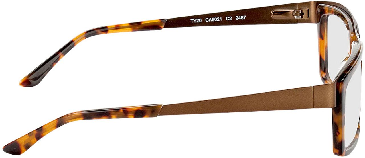 Picture of glasses model Movie-braun-meliert-bronze in angle 90