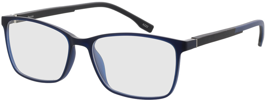Picture of glasses model Pecos-blau-transparent in angle 330