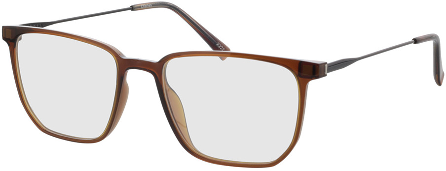 Picture of glasses model Charles-braun-transparent/matt schwarz in angle 330