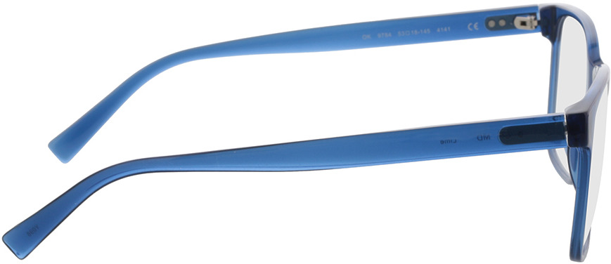 Picture of glasses model Lime-blau in angle 90