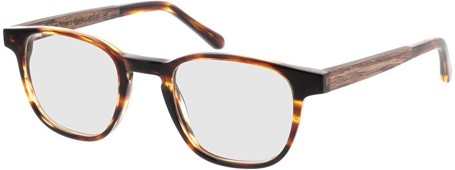 Picture of glasses model TAKE A SHOT Oya Amber RX: Walnussholz 45-22 in angle 330
