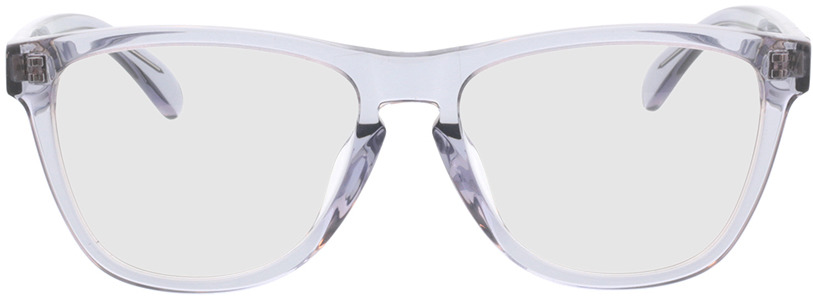 Picture of glasses model Warwick Grijs/transparant in angle 0