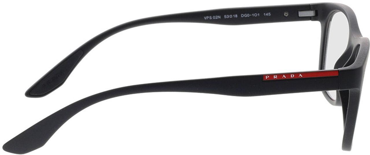 Picture of glasses model Prada Linea Rossa PS 02NV DG01O1 53-18 in angle 90