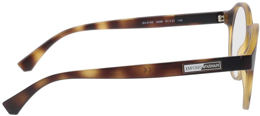 Picture of glasses model Emporio Armani EA3163 5089 51-21 in angle 90