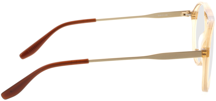 Picture of glasses model Cooper-beige gelb transparent in angle 90