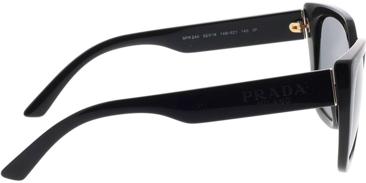 Picture of glasses model Prada PR 24XS 1AB5Z1 52-18 in angle 90