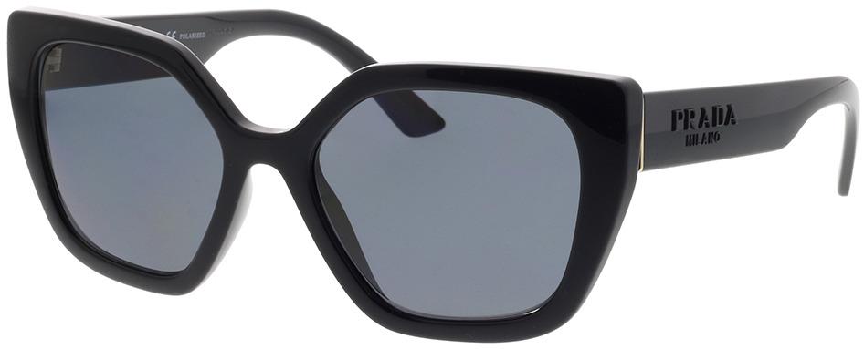 Picture of glasses model Prada PR 24XS 1AB5Z1 52-18 in angle 330