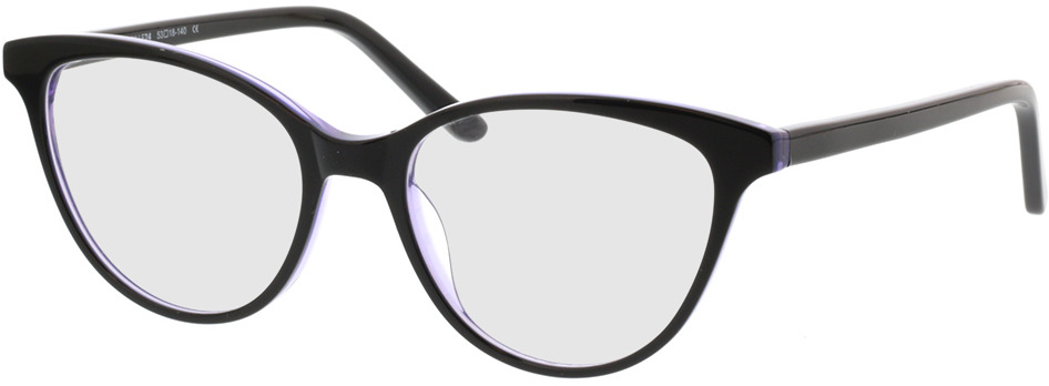 Picture of glasses model Andorra-schwarz/lila in angle 330