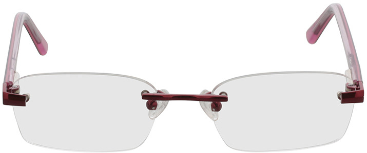 Picture of glasses model Bristol-rot in angle 0