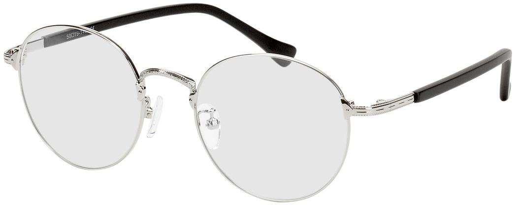 Picture of glasses model Oslo silver/black in angle 330