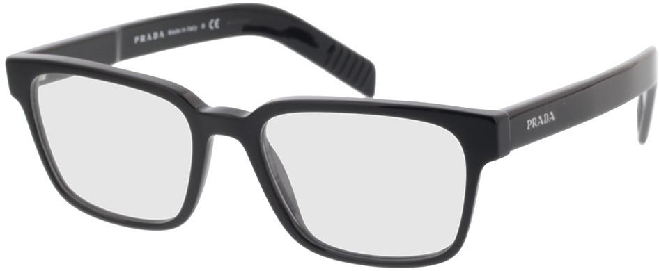 Picture of glasses model Prada PR 15WV 1AB1O1 53-18 in angle 330