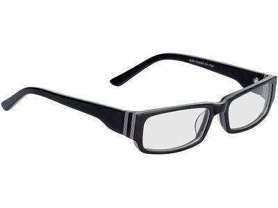 Brille Fano-schwarz Nadelstreifen