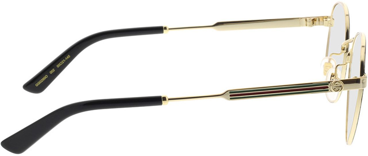 Picture of glasses model Gucci GG0290O-002 50-21 in angle 90
