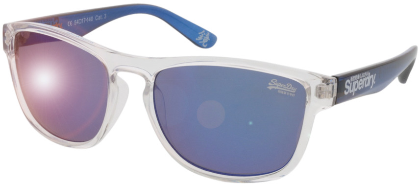 Picture of glasses model Superdry SDS Rockstar transparente/azul 54 17 in angle 330
