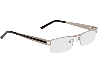 Brille Drammen-silber/schwarz