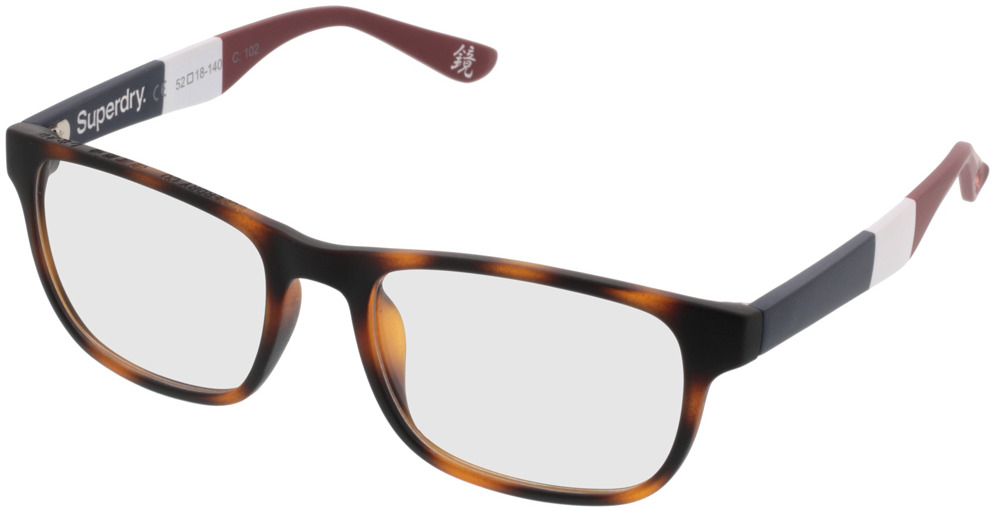 Picture of glasses model Superdry SDO Kabu 102 havanna 52-18 in angle 330