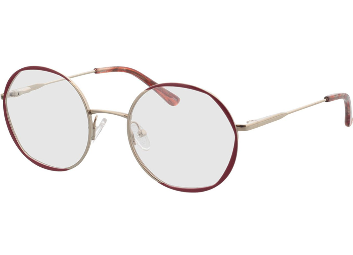 4250325296442-singlevision-0000 Selma-gold/rot Gleitsichtbrille, Vollrand, Rund Brille24 Collection