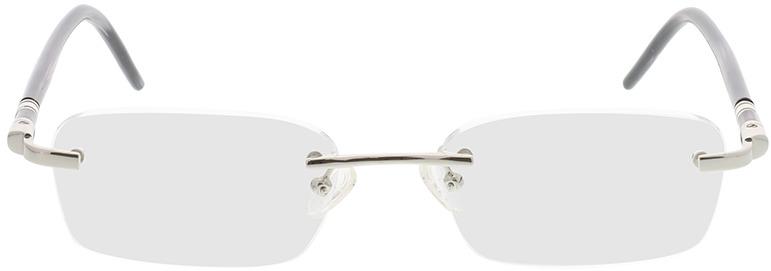Picture of glasses model Serra zilver/zwart in angle 0