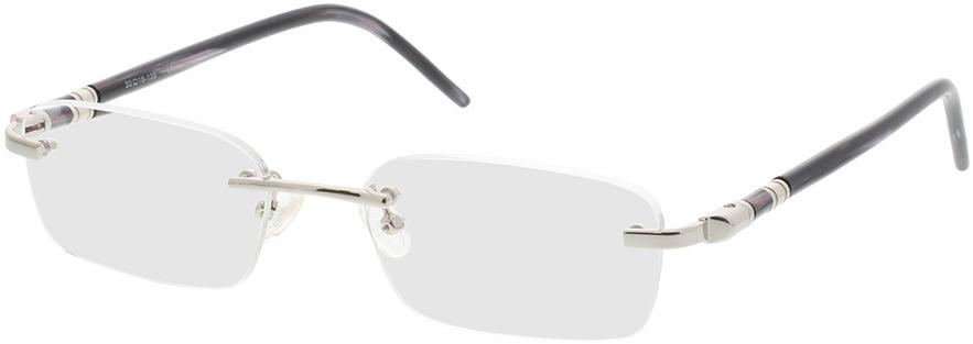 Picture of glasses model Serra zilver/zwart in angle 330