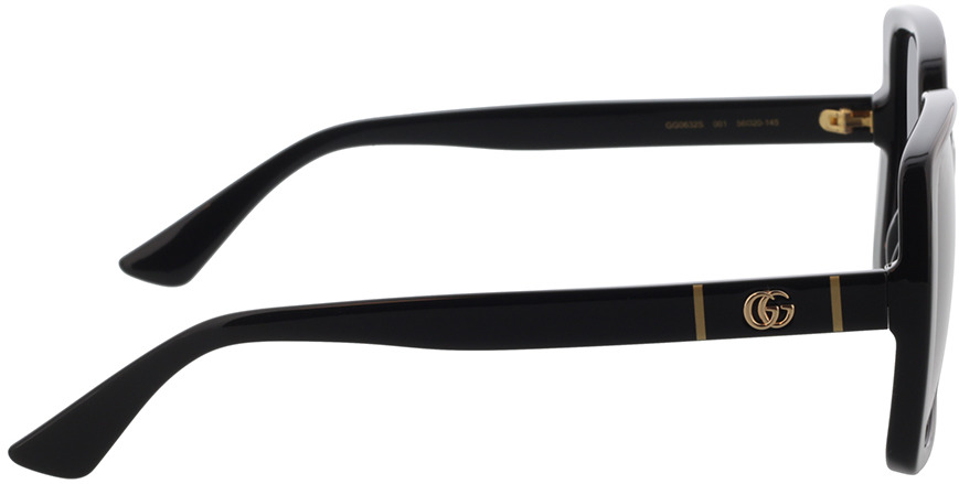 Picture of glasses model Gucci GG0632S-001 56-20 in angle 90