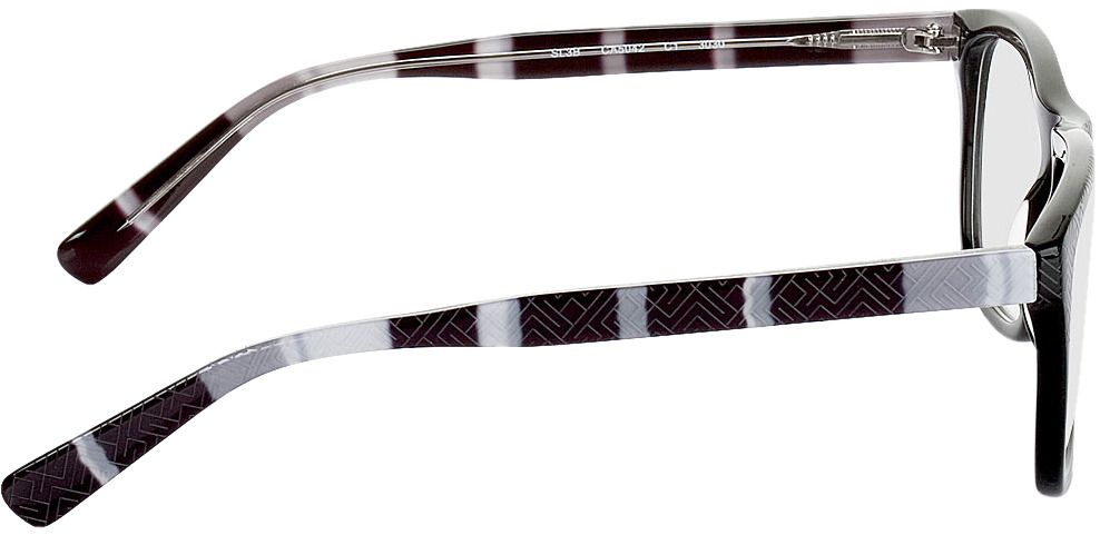 Picture of glasses model Ajaccio-schwarz-grau-meliert in angle 90