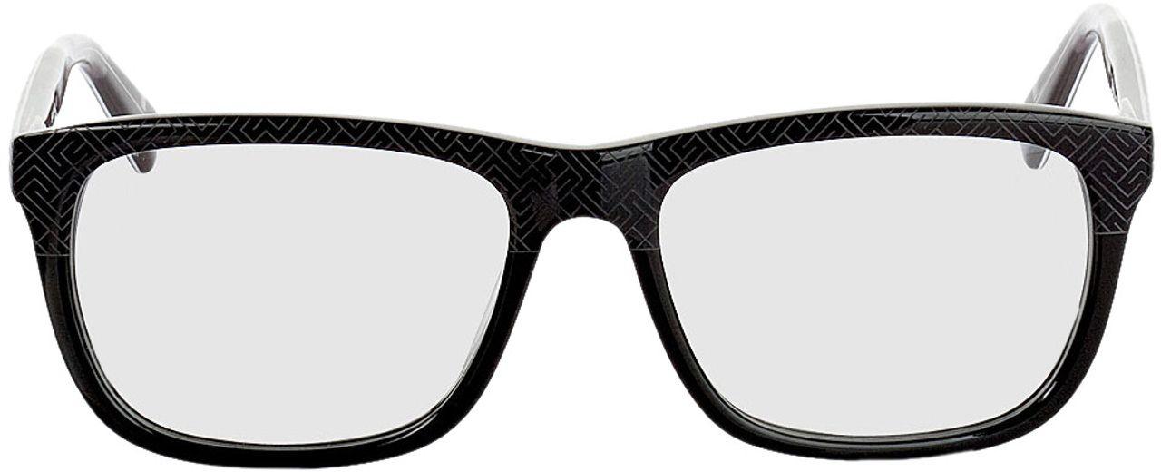 Picture of glasses model Ajaccio-schwarz-grau-meliert in angle 0