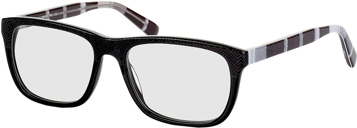 Picture of glasses model Ajaccio-schwarz-grau-meliert in angle 330
