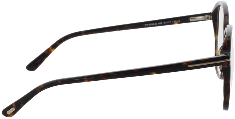 Picture of glasses model Tom Ford FT5708-B 052 57 in angle 90