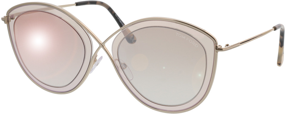 Picture of glasses model Tom Ford Sacha FT0604 47G in angle 330