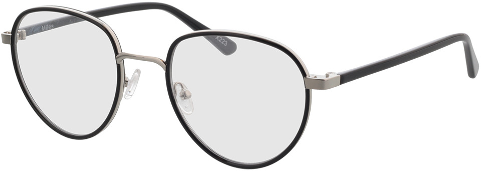 Picture of glasses model Miles-schwarz in angle 330