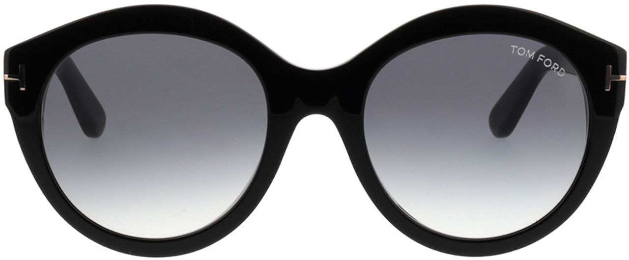 Picture of glasses model Tom Ford FT0661 01B in angle 0