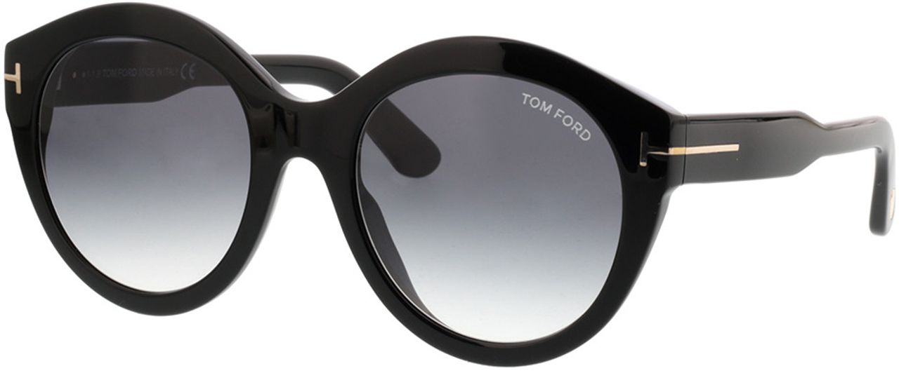 Picture of glasses model Tom Ford FT0661 01B in angle 330
