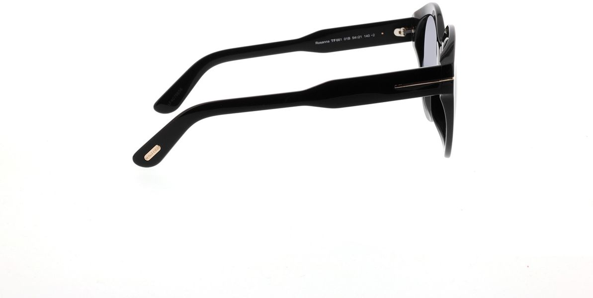 Picture of glasses model Tom Ford FT0661 01B in angle 90