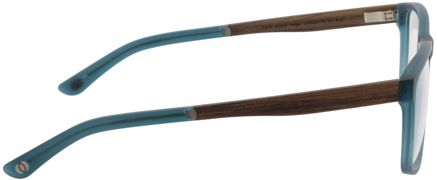 Picture of glasses model Wood Fellas Optical Eysome walnut/indigo 57-20 in angle 90