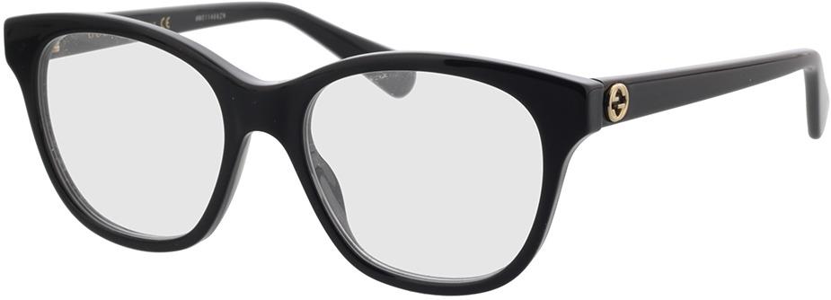 Picture of glasses model Gucci GG0923O-001 51-17 in angle 330