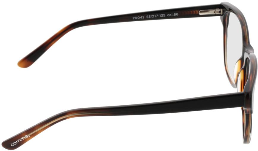 Picture of glasses model Comma, 70042 66 preto-castanho 53-17 in angle 90