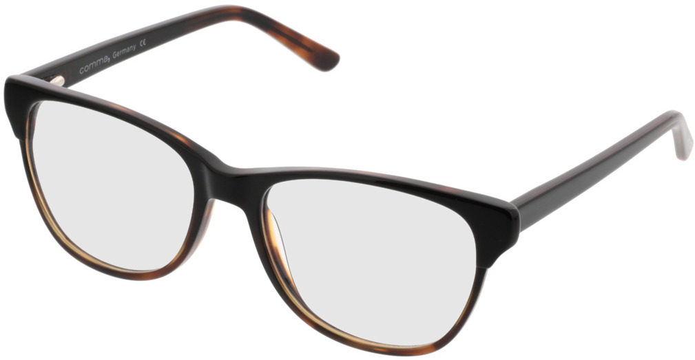 Picture of glasses model Comma, 70042 66 preto-castanho 53-17 in angle 330